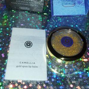 Tatcha camelia gold spun lip balm